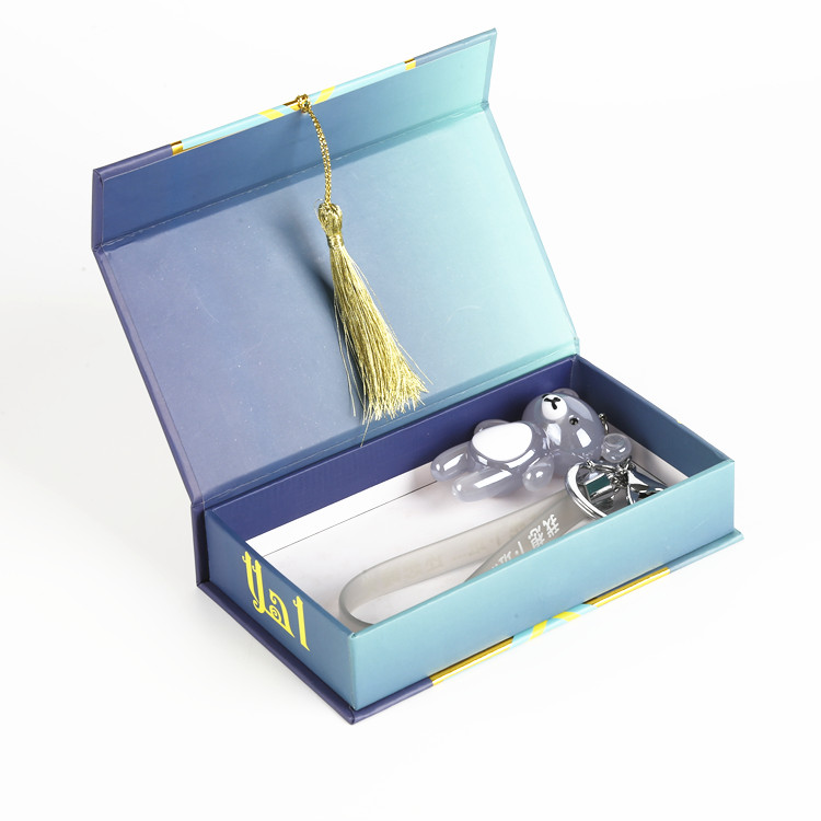 Foldable Printed Box With Ribbon