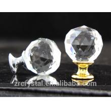 ouro e prata misturam cômoda, armário, gaveta e armário vidro cristal bola alça puxar empurrar os botões por atacado