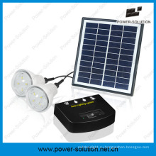 Солнечная система заряжаемых с 2 лампы и мобильный телефон зарядное устройство&4 Вт панели солнечных батарей&2 Вт Солнечной лампы для крытый