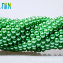 Perlas de cristal al por mayor de las perlas falsas perlas redondas encadenadas