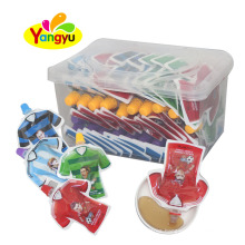 World Cup Jersey Shape Fruits Liquid Jelly Candy