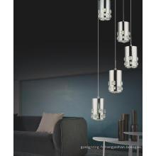Lampe pendentif en cristal à LED design contemporain (MP7055-5C)