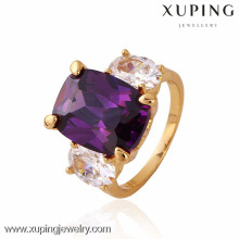11243 xuping fashion finger 18k gold weeding rings with stone