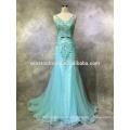 Fábrica de China profissional frente moda frente curto longa volta chiffon vestidos de noite de festa
