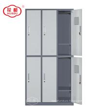 Garde-robe métallique industrielle multi-fonctions 6 portes