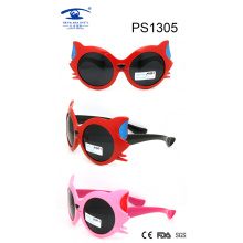 Cat Shape Stylish Colorful Kid Plastic Sunglasses (PS1305)