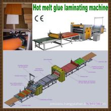 pvc coating machine/PUR hot melt glue hot press machine