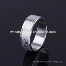 Fashion best design jewelry à bas prix gros hommes anneau en acier inoxydable