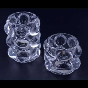 Eleganter Teelichthalter aus Glas Big Bubble