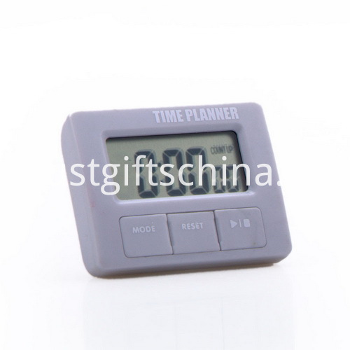 Promotional Plastic Square Shaped Timer with Holder_5