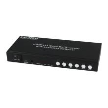 Multi-visionneuse quadruple HDMI 4X1 avec commutateur sans couture