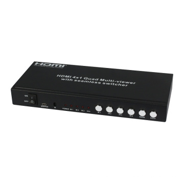 Multi-Visualizador Quad 4X1 HDMI com Switcher Sem Costura