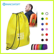 Eco-Friendly plegable Reutilizable Nylon Drawstring Bolsa de la mochila de cordón