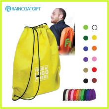 Eco-Friendly Folding Reusable Nylon Drawstring Bag Sac à dos à cordon