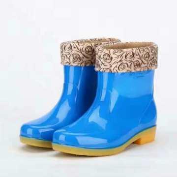 Hot Selling Winter Ladies PVC Rain Boots