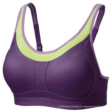 Diseño personalizado Dri-Fit Yoga Bra, sujetador deportivo, sujetador deportivo de la fábrica de China, desgaste de las mujeres