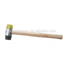 Suave cara PU martillo con mango de madera