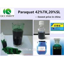 Fournir l'herbicide Paraquat 42% TC 20% SL avec un bon prix N ° CAS: 1910-42-5