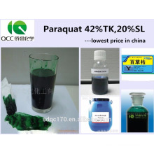 Supply Herbicide Paraquat 42%TC 20%SL with good price CAS No.:1910-42-5