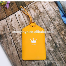 Popular customized PVC art paper laptop bag tag