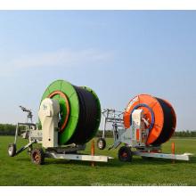 carro del sistema de riego del carrete de manguera del aspersor de la rueda