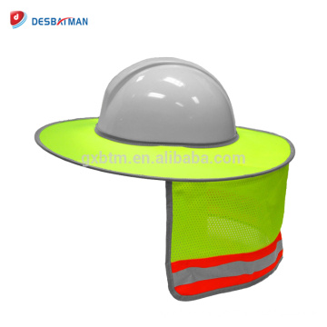 2018 Best Supplier Hi Vis Lime Full Brim Sun Shade Neck Shield Reflective Face Protective Equipment For All Safety Hard Hats NEW