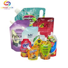 Custom+Printed+Reclosable+Stand+Up+Shampoo+Spout+Pouch