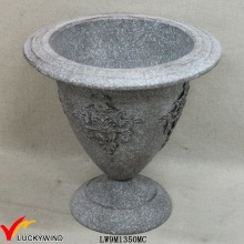 Rust Grey Decorative Antique Metal Vintage Garden Urns