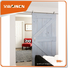 Divisória deslizante de vidro de boa aparência porta interior porta de celeiro para porta de vidro