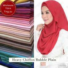 wonderful fabric Feels and looks like silk plian muslim shawl scarf printed dubai hijab