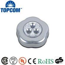 Silver Color ABS Material LED Mini Push Light