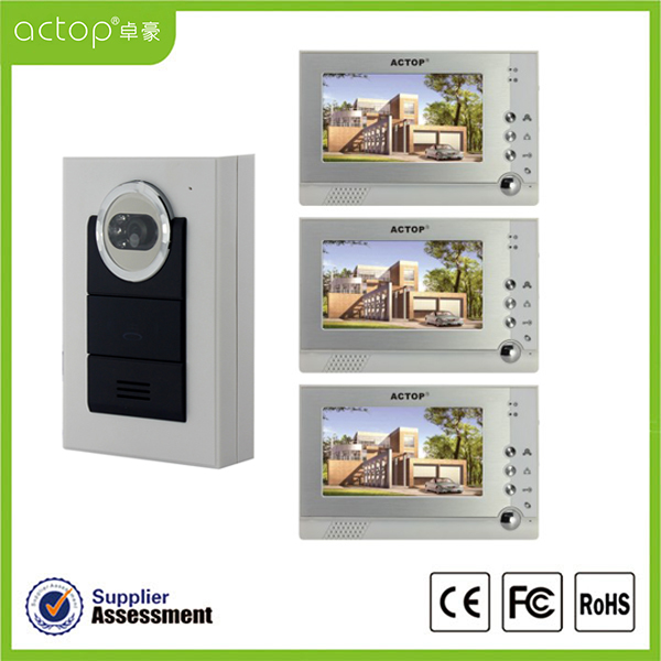 7 inch Night Vision Color Doorphone Video liên lạc