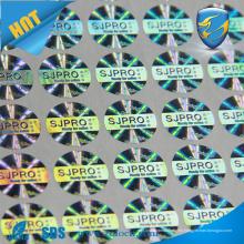 Etiqueta holográfica del holograma de la seguridad del número de serie de la secuencia
