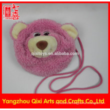 Best quality teddy bear head plush bag pink children bear bag for kids