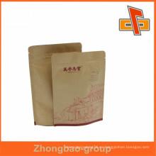 ¡¡Gran venta!! Bolso marrón del alimento del papel kraft marrón respetuoso del medio ambiente con la muesca del rasgón