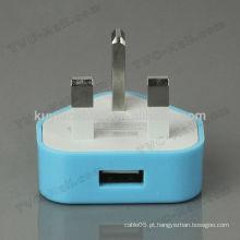Universal Travel 220v adaptador de 3 pinos para plug uk com conector fêmea USB
