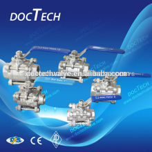 Mini Triplet Float Thread Ball Valve Manual Operation Ptfe Seal CF8/CF8M/WCB Sample for free