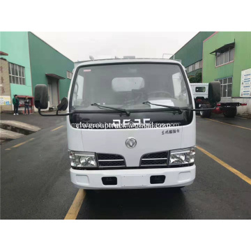 Dongfeng 4x2 suction truck with rear roller brush