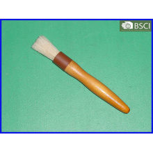 Spb-003 White Bristle Round Wooden Handle Pastry Brush