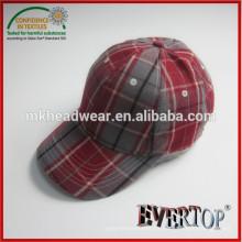 Seis panel de material especial de gorra de béisbol fabricante