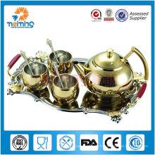 tasse à thé non électrique 8pcs en acier inoxydable et pot