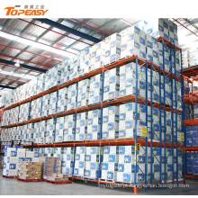 armazém de aço pesados armazenamento duplo palete rack de armazenamento