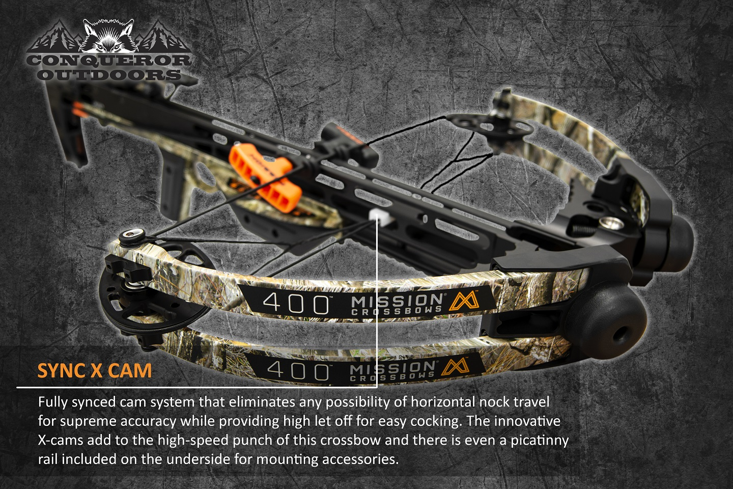 Mission Crossbow 400 Quarter Hero Detail with Text