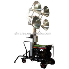 lighting tower (lighting tower, mobile lighting tower, portable lighting tower)