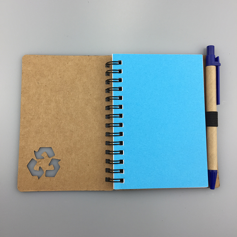 Recyclable Spiral Notebook With Paper Eco Pen