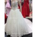 Luxo Heavy Hand Made Beaded Sweatheart Long Train Ball Vestido Marfim Wedding Dress Made in China A099
