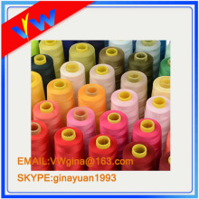 dyed plastic tube 100% polyester sewing thread