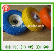10 дюймов 3.50-4 популярные твердые колеса пена PU колесо для ручной тележки ,рицинус