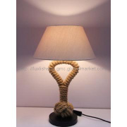 Flax shade,spray-paint metal with jute rope Table lamp LS-T913