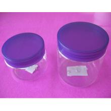 4 oz e 8 oz clara Pet Jar com tampa de rosca